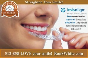 RonWhite0821 invisalign promotion for august